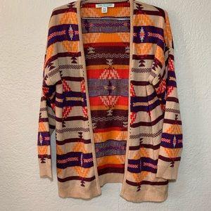 Love By Design Aztec Print Long Sleeve Cardigan
